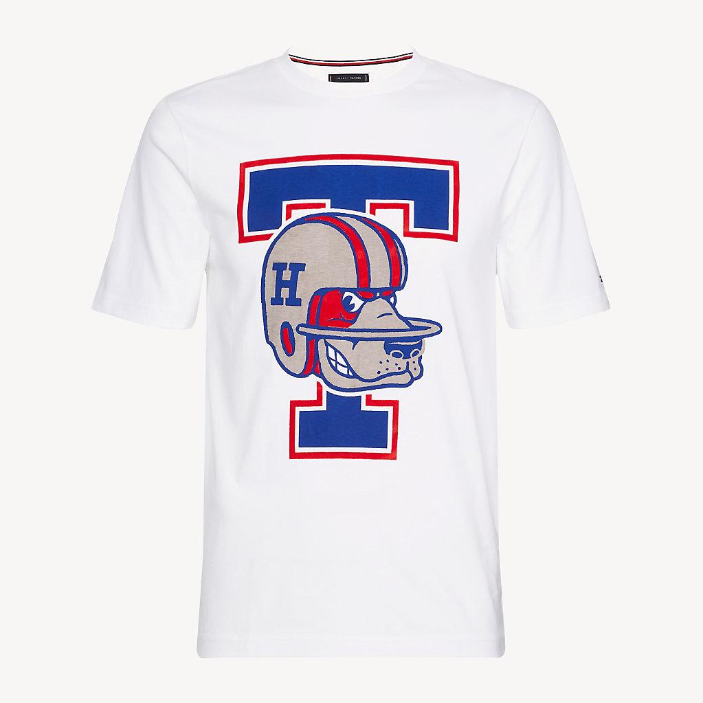 Tommy Hilfiger - T-Shirt mit American-Football-Logo - 5