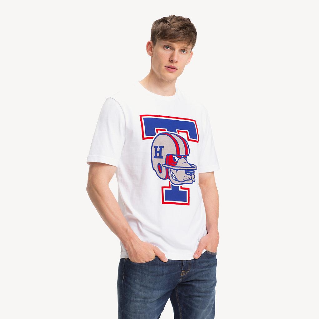 Tommy Hilfiger - T-Shirt mit American-Football-Logo - 1