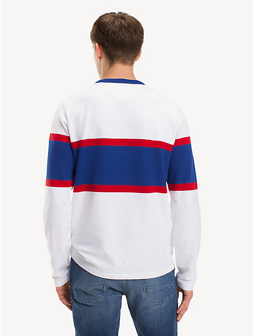 TOMMY HILFIGER Colour-blocked T-shirt met monogram - BRIGHT WHITE - TOMMY HILFIGER Kleding - detail image 1