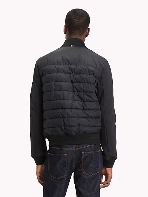 TOMMY HILFIGER Quilted Bomber Jacket - JET BLACK - TOMMY HILFIGER NEW IN - detail image 1