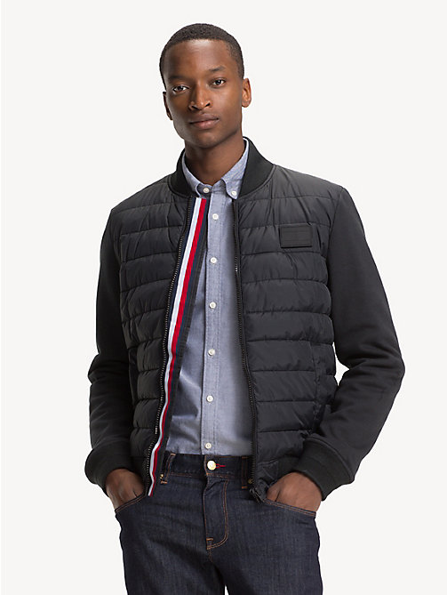 TOMMY HILFIGER Quilted Bomber Jacket - JET BLACK - TOMMY HILFIGER NEW IN - main image