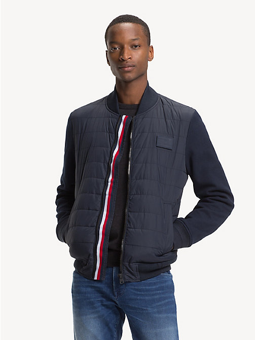 TOMMY HILFIGER Quilted Bomber Jacket - SKY CAPTAIN - TOMMY HILFIGER NEW IN - main image