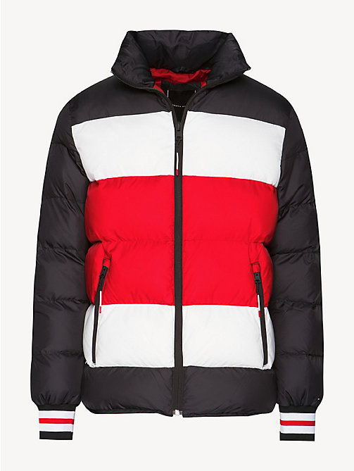 TOMMY HILFIGER Stripe Padded Bomber Jacket - JET BLACK - TOMMY HILFIGER NEW IN - detail image 1