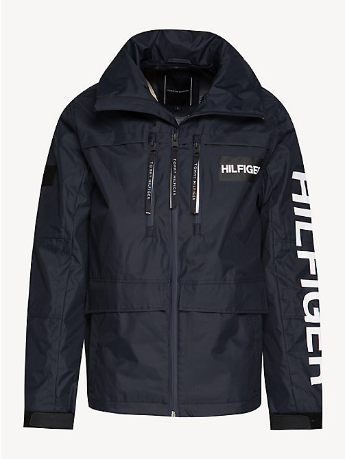 TOMMY HILFIGER Colour-Blocked Hooded Jacket - SKY CAPTAIN - TOMMY HILFIGER NEW IN - detail image 1