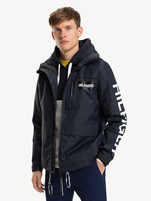 TOMMY HILFIGER Colour-Blocked Hooded Jacket - SKY CAPTAIN - TOMMY HILFIGER NEW IN - main image
