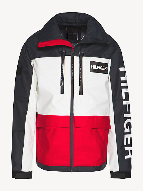 TOMMY HILFIGER Colour-blocked windjack met capuchon - HAUTE RED - TOMMY HILFIGER NIEUW - detail image 1