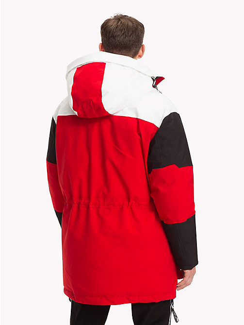 TOMMY HILFIGER Colour-Blocked Parka - GOJI BERRY - TOMMY HILFIGER NEW IN - detail image 1