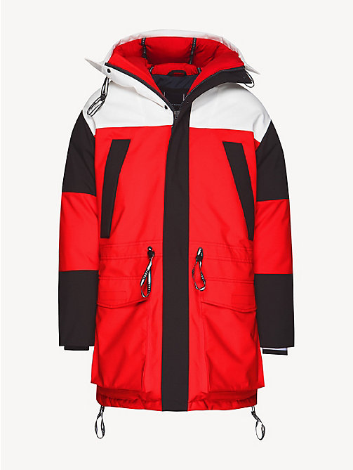 TOMMY HILFIGER Colour-Blocked Parka - GOJI BERRY - TOMMY HILFIGER Parka Coats - detail image 1