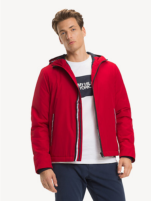 TOMMY HILFIGER Hooded Padded Jacket - HAUTE RED - TOMMY HILFIGER NEW IN - main image