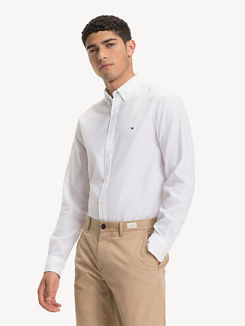 TOMMY HILFIGER Button-Down Collar Shirt - BRIGHT WHITE - TOMMY HILFIGER NEW IN - detail image 1