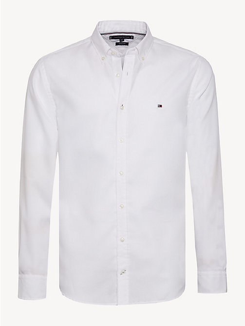 TOMMY HILFIGER Button-Down Collar Shirt - BRIGHT WHITE - TOMMY HILFIGER NEW IN - main image