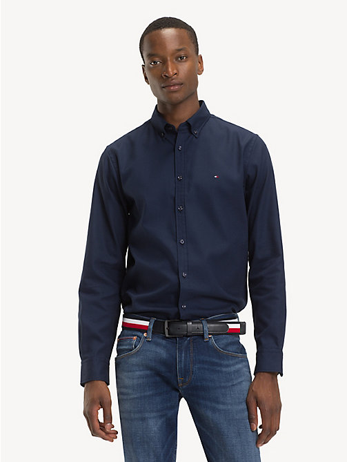 TOMMY HILFIGER Button-Down Collar Shirt - BLACK IRIS - TOMMY HILFIGER Casual Shirts - detail image 1