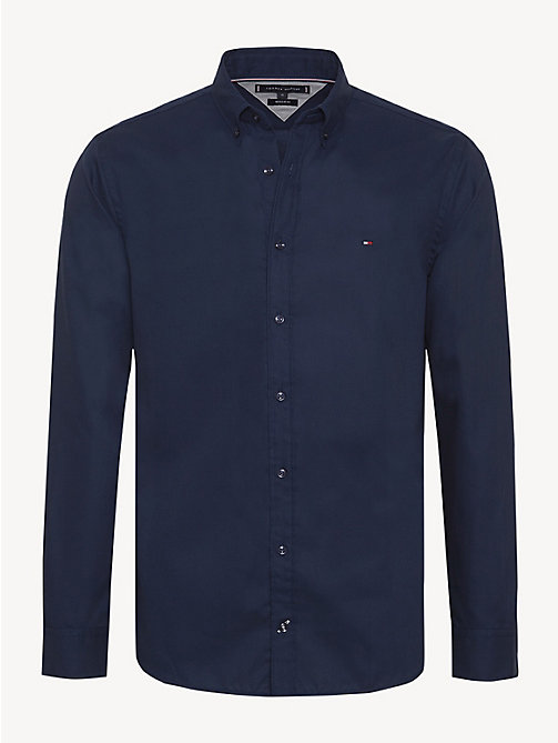 TOMMY HILFIGER Button-Down Collar Shirt - BLACK IRIS - TOMMY HILFIGER Casual Shirts - main image