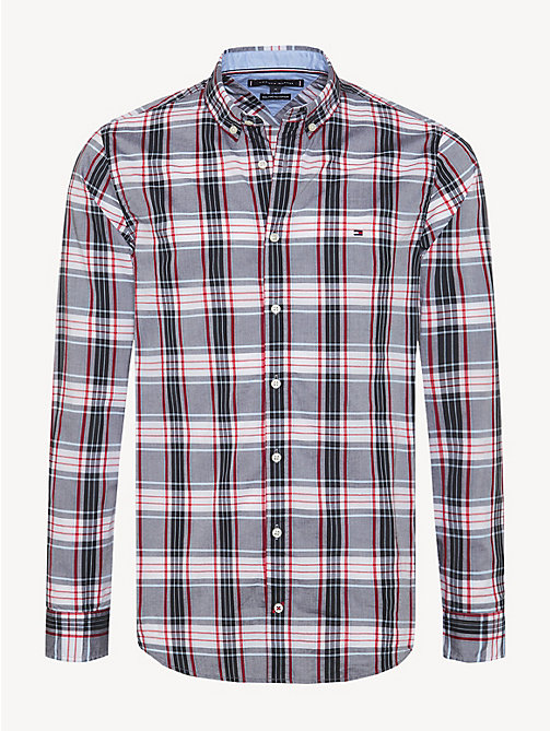 TOMMY HILFIGER Check Slim Fit Shirt - GOJI BERRY / MULTI - TOMMY HILFIGER Casual Shirts - main image