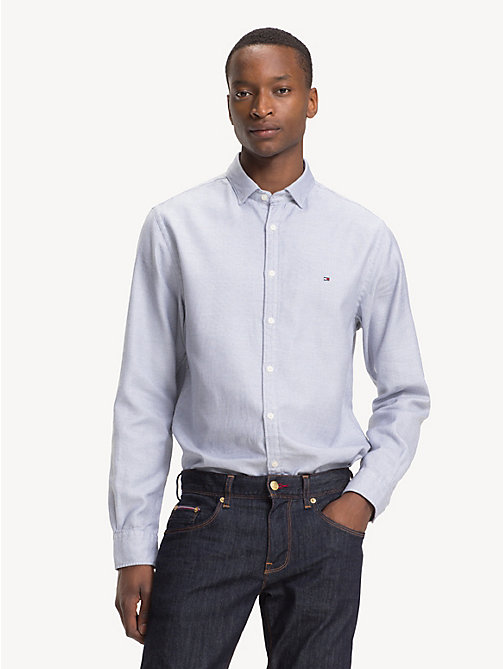 TOMMY HILFIGER Pure Cotton Regular Fit Shirt - BLACK IRIS - TOMMY HILFIGER Casual Shirts - detail image 1