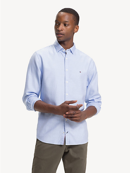TOMMY HILFIGER Pure Cotton Regular Fit Shirt - SHIRT BLUE - TOMMY HILFIGER NEW IN - detail image 1