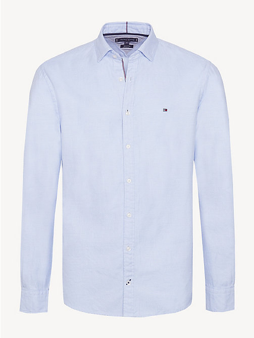TOMMY HILFIGER Pure Cotton Regular Fit Shirt - SHIRT BLUE - TOMMY HILFIGER Casual Shirts - main image