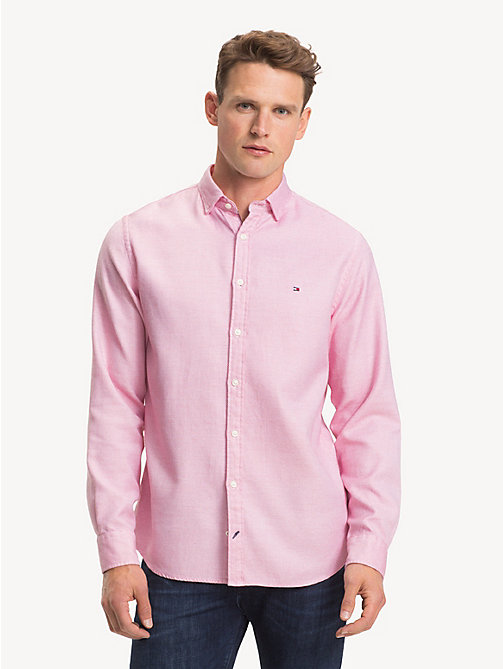 TOMMY HILFIGER Pure Cotton Regular Fit Shirt - HAUTE RED - TOMMY HILFIGER Casual Shirts - detail image 1