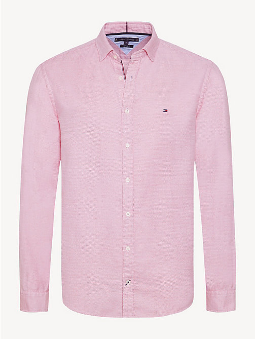 TOMMY HILFIGER Pure Cotton Regular Fit Shirt - HAUTE RED - TOMMY HILFIGER Casual Shirts - main image