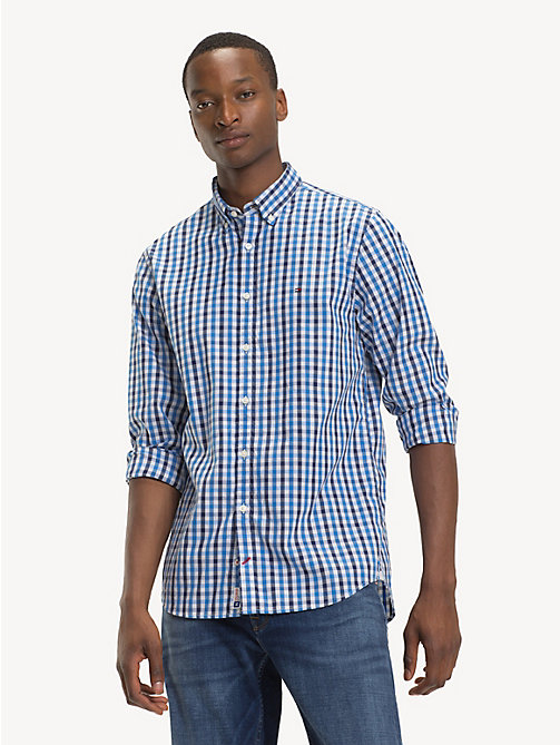 TOMMY HILFIGER Gingham Check Oxford Shirt - SHIRT BLUE / MEDIEVAL BLUE / MULTI - TOMMY HILFIGER NEW IN - detail image 1