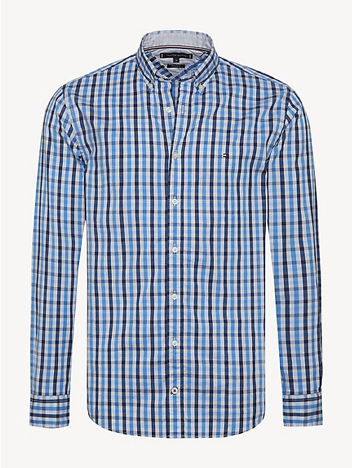 TOMMY HILFIGER Gingham Check Oxford Shirt - SHIRT BLUE / MEDIEVAL BLUE / MULTI - TOMMY HILFIGER NEW IN - main image