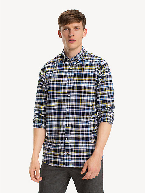 TOMMY HILFIGER Plaid Check Slim Fit Shirt - SKY CAPTAIN / MULTI - TOMMY HILFIGER NEW IN - detail image 1