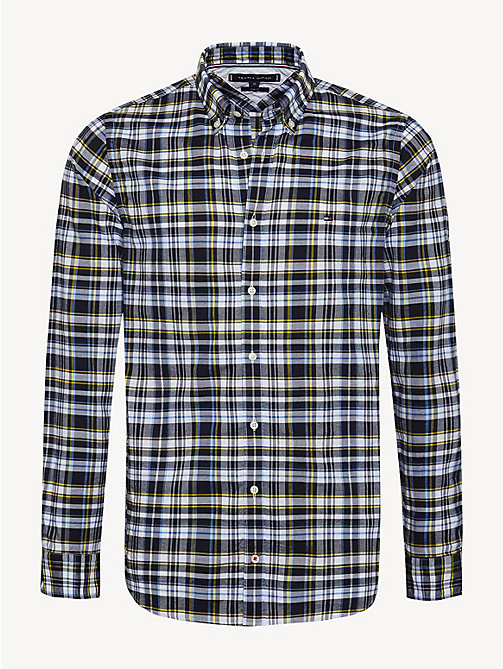 TOMMY HILFIGER Plaid Check Slim Fit Shirt - SKY CAPTAIN / MULTI - TOMMY HILFIGER NEW IN - main image
