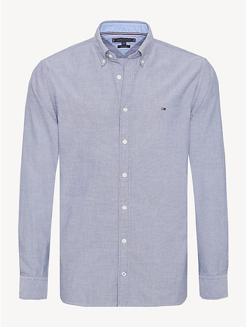 TOMMY HILFIGER Sandwashed Cotton Oxford Shirt - BLACK IRIS - TOMMY HILFIGER Casual Shirts - main image