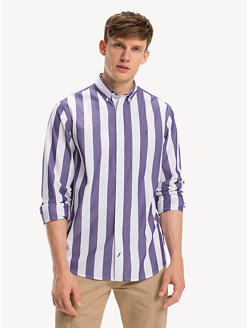 TOMMY HILFIGER Pure Cotton Candy Stripe Shirt - PARACHUTE PURPLE / BRIGHT WHITE - TOMMY HILFIGER NEW IN - detail image 1