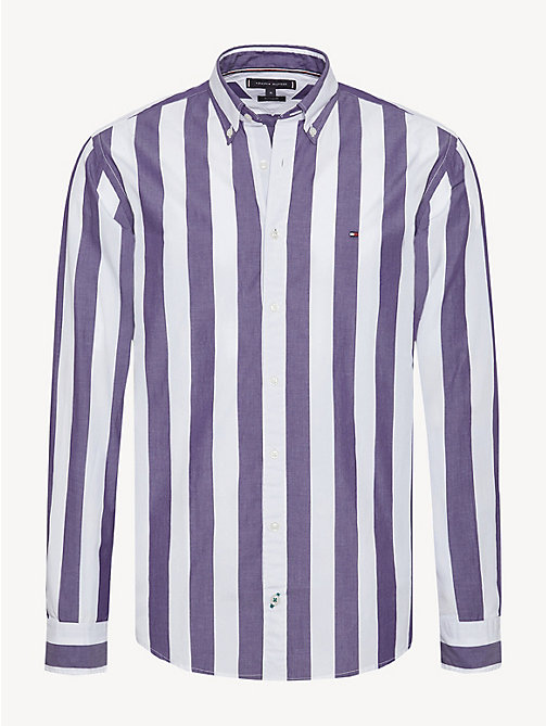 TOMMY HILFIGER Pure Cotton Candy Stripe Shirt - PARACHUTE PURPLE / BRIGHT WHITE - TOMMY HILFIGER NEW IN - main image