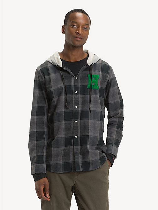 TOMMY HILFIGER Plaid Check Hooded Shirt - MAGNET / MULTI - TOMMY HILFIGER NEW IN - detail image 1