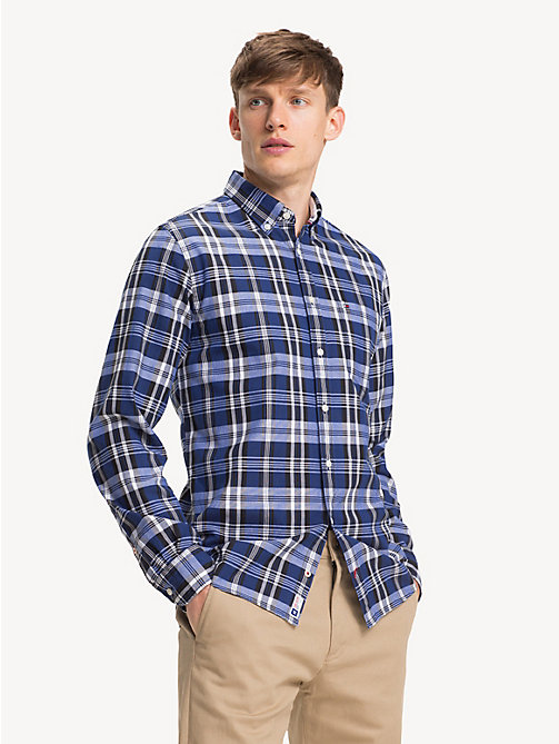 TOMMY HILFIGER Pure Cotton Check Oxford Shirt - SURF THE WEB / MULTI - TOMMY HILFIGER Sustainable Evolution - detail image 1