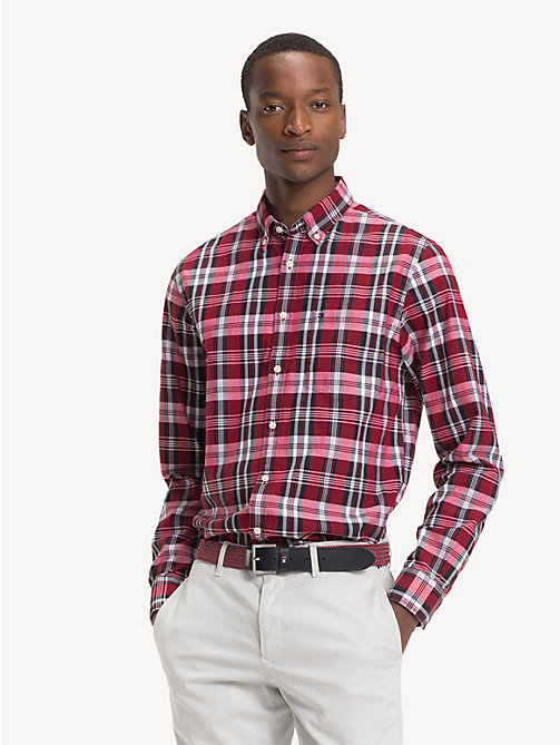 TOMMY HILFIGER Pure Cotton Check Oxford Shirt - GOJI BERRY / MULTI - TOMMY HILFIGER Sustainable Evolution - detail image 1