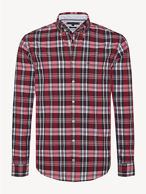 TOMMY HILFIGER Oxford-overhemd met plaidprint - GOJI BERRY / MULTI - TOMMY HILFIGER Sustainable Evolution - main image