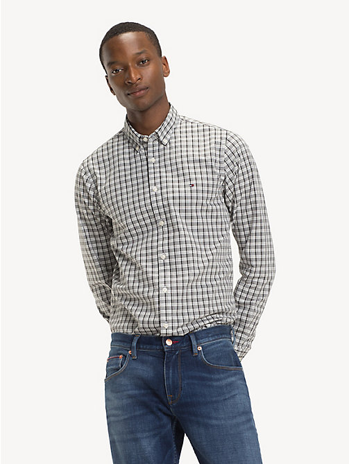 TOMMY HILFIGER Pure Cotton Micro Check Shirt - CLOUD HTR / MULTI - TOMMY HILFIGER NEW IN - detail image 1