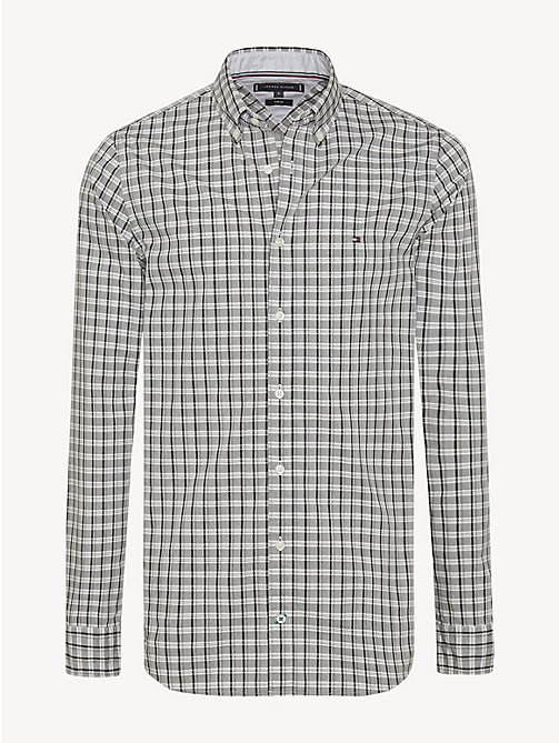 TOMMY HILFIGER Pure Cotton Micro Check Shirt - CLOUD HTR / MULTI - TOMMY HILFIGER NEW IN - main image