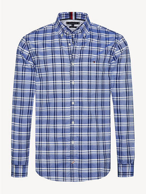 TOMMY HILFIGER Pure Cotton Check Oxford Shirt - SURF THE WEB / MULTI - TOMMY HILFIGER Sustainable Evolution - main image