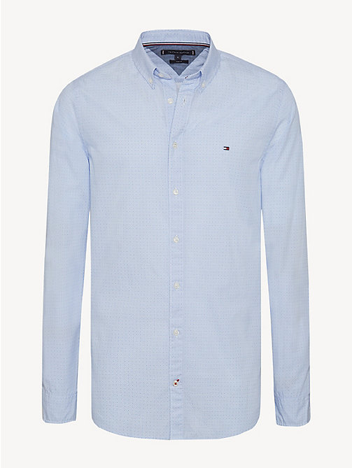 TOMMY HILFIGER Slim Fit Pure Cotton Shirt - SHIRT BLUE / BRIGHT WHITE - TOMMY HILFIGER NEW IN - main image