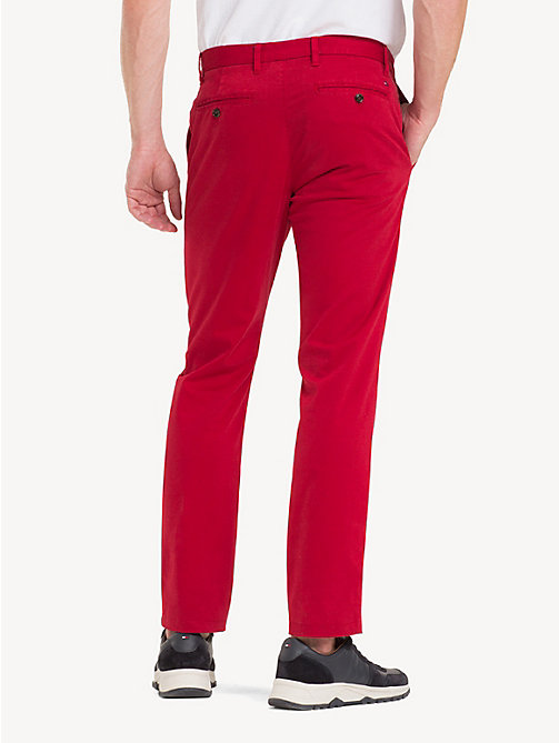 TOMMY HILFIGER TH Flex Chinos - HAUTE RED - TOMMY HILFIGER NEW IN - detail image 1