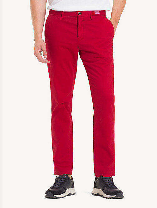 TOMMY HILFIGER TH Flex Chinos - HAUTE RED - TOMMY HILFIGER NEW IN - main image