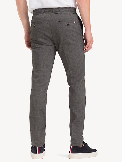 TOMMY HILFIGER TH Flex Herringbone Trousers - MAGNET - TOMMY HILFIGER NEW IN - detail image 1