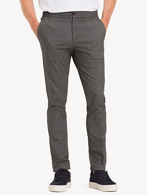 TOMMY HILFIGER TH Flex Herringbone Trousers - MAGNET - TOMMY HILFIGER NEW IN - main image
