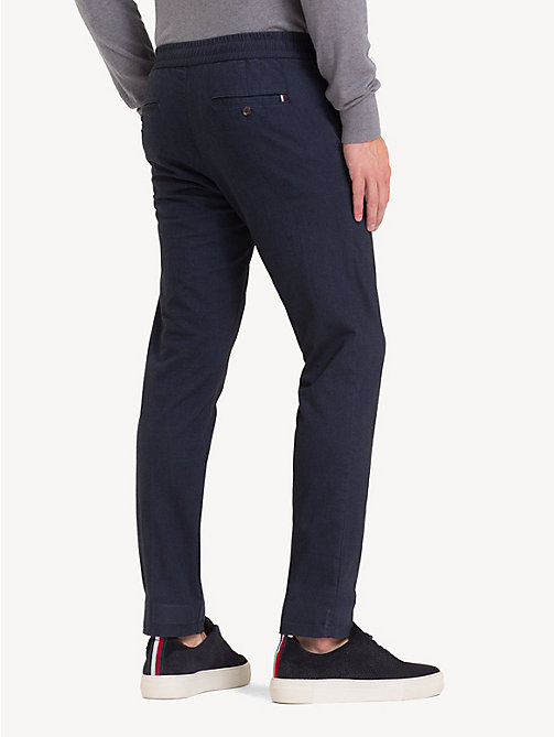 TOMMY HILFIGER TH Flex Herringbone Trousers - SKY CAPTAIN - TOMMY HILFIGER NEW IN - detail image 1