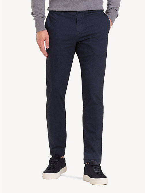 TOMMY HILFIGER TH Flex Herringbone Trousers - SKY CAPTAIN - TOMMY HILFIGER NEW IN - main image