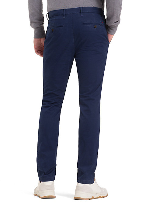 TOMMY HILFIGER Slim Fit Trousers - BLUE DEPTHS - TOMMY HILFIGER NEW IN - detail image 1