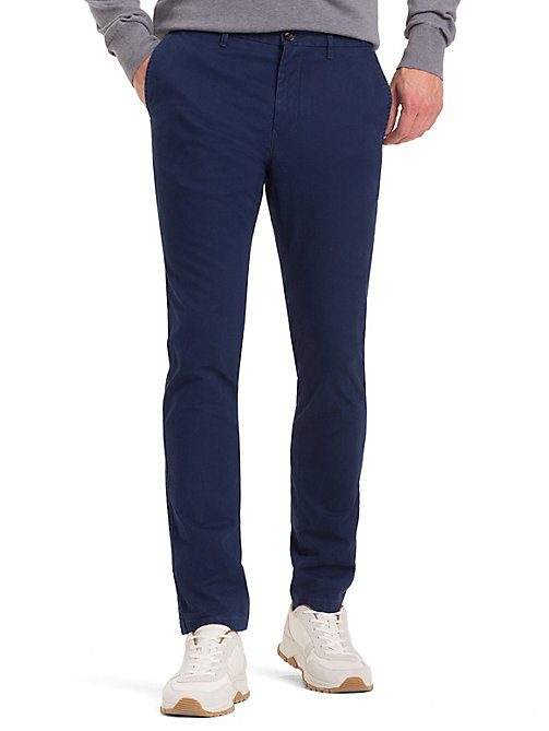 TOMMY HILFIGER Slim Fit Trousers - BLUE DEPTHS - TOMMY HILFIGER NEW IN - main image