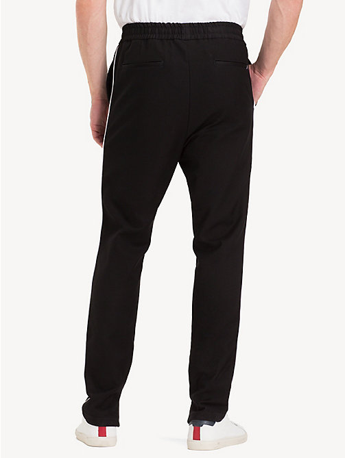 TOMMY HILFIGER Tapered fit sportbroek - JET BLACK - TOMMY HILFIGER NIEUW - detail image 1