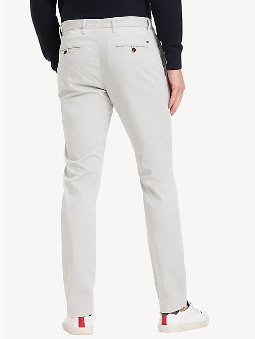 TOMMY HILFIGER Slim Fit Flex Chinos - HARBOR MIST - TOMMY HILFIGER Chinos - detail image 1