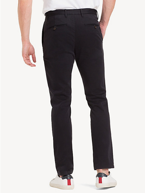 TOMMY HILFIGER Slim Fit Flex Chinos - JET BLACK - TOMMY HILFIGER NEW IN - detail image 1