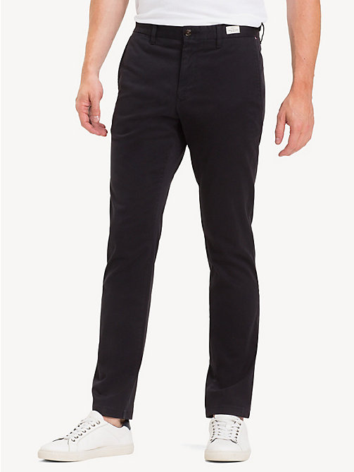 TOMMY HILFIGER Slim Fit Flex Chinos - JET BLACK - TOMMY HILFIGER NEW IN - main image
